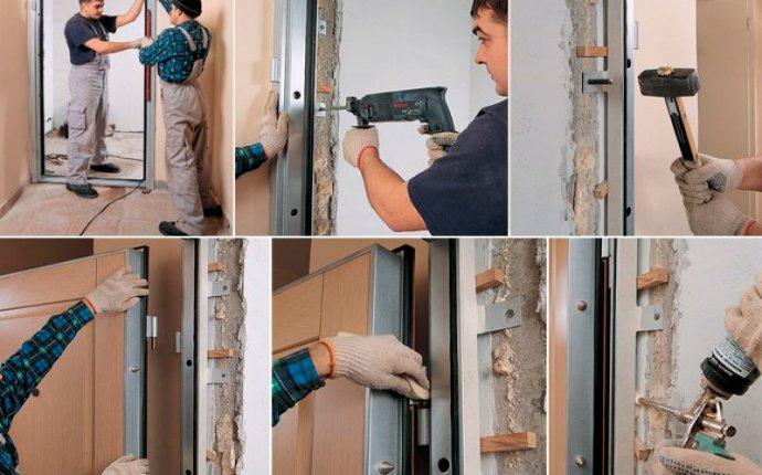 Как правильно установить входную металлическую дверь в квартиру