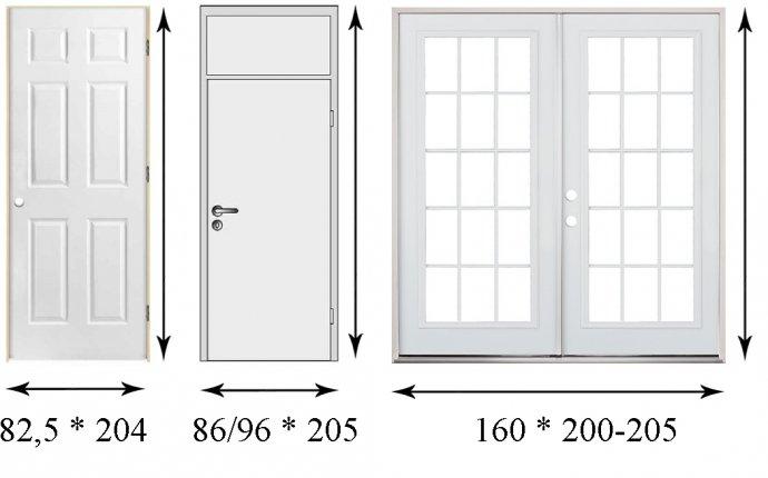 Размеры входных дверей: требования, выбор, инструкция по замерам