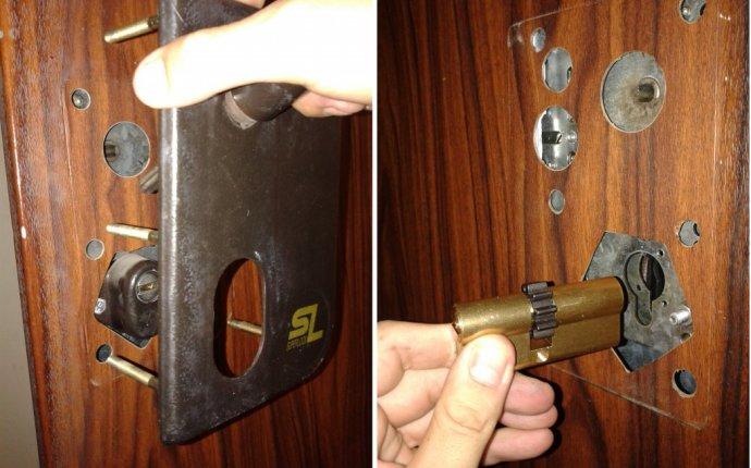 Замена замка входной двери - Замена замка на входной металлической